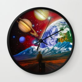 The Hitchhiker Wall Clock