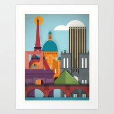 Touristique - Paris Art Print