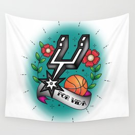 Old-School Spurs Love Wall Tapestry