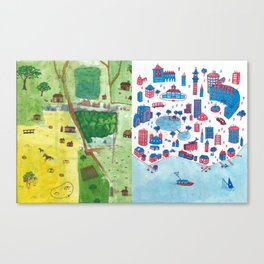Town and City (2018) Canvas Print