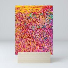 Rainbow fuzzy Mini Art Print