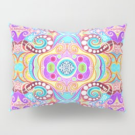 Light Blue Symmetry Pillow Sham