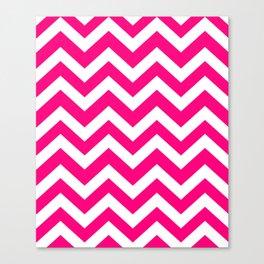 Winter Sky - fuchsia color - Zigzag Chevron Pattern Canvas Print