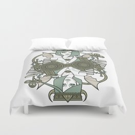SINS Mentis - Envy Queen of Clubs Duvet Cover