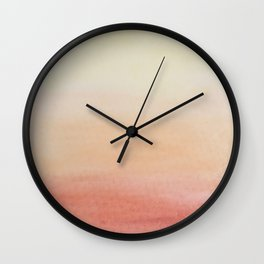 Ombre Rose Dawn Watercolor Hand-Painted Effect Wall Clock