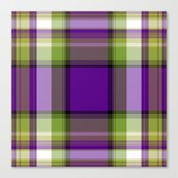 plaid Canvas Prints featuring Plaid by Kevin Rogerson