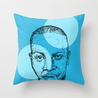 allyson johnson Throw Pillows featuring Robert Johnson by mr.defeo