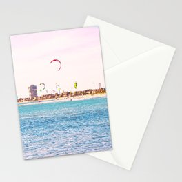 Windsurfing at St Kilda Stationery Cards