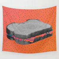 fat Wall Tapestries featuring Fat Sandwich by Calepotts