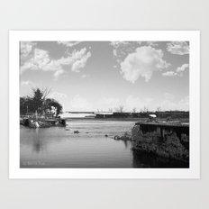 Crumbled Pier Art Print