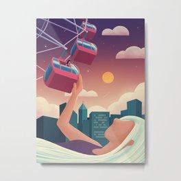 Miu on the Ferris Wheel Metal Print
