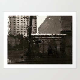 Rainy Stroll in Miami Art Print