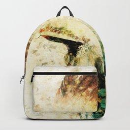 Native American Boho Headdress Sideview Backpack