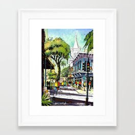 Duval Street, Key West Framed Art Print