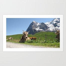 Swiss Cow #2 Art Print
