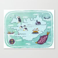 iceland Canvas Prints featuring Iceland by Laura Wood