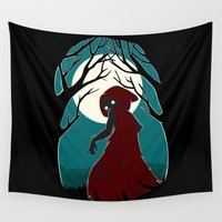 red riding hood Wall Tapestries featuring Red Riding Hood 2 by Freeminds