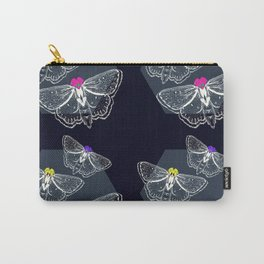Bejeweled Moths Carry-All Pouch
