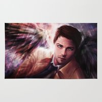 castiel Area & Throw Rugs featuring Castiel by jasric
