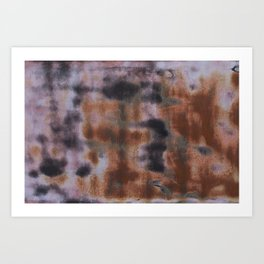Copper and Iron abstract pattern Art Print