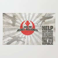 rebel Area & Throw Rugs featuring Join the Rebel Alliance by Spectacle Photo