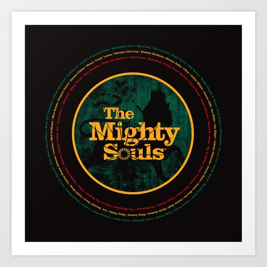 The Mighty Souls: Reggae Legends Art Print