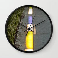 library Wall Clocks featuring Library Line  by Ethna Gillespie