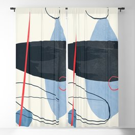 Minimal Abstract Shapes 19 Blackout Curtain