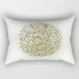 Delicate flowers green, Paradise flowers, wallpaper, Home Decor, Graphicdesign Rectangular Pillow