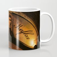 cafe Mugs featuring Cafe Kafka by Bella Blue Photography