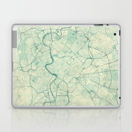 Rome Map Blue Vintage Laptop & iPad Skin