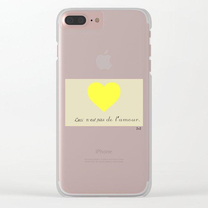 CECI N'EST PAS DE L'AMOUR Clear iPhone Case