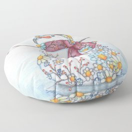 Daisy Snowman Floor Pillow