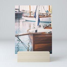 Wood Sailing Boat Mini Art Print
