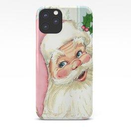 Retro Santa with music iPhone Case