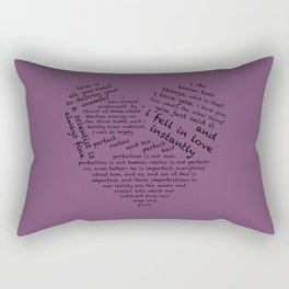 Quotes of the Heart - Cecilos (Black) Rectangular Pillow
