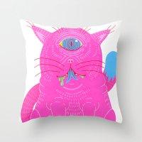 cyclops Throw Pillows featuring Cyclops by Madelen Foss