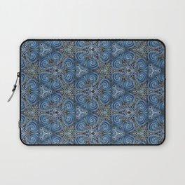 swirl blue pattern Laptop Sleeve