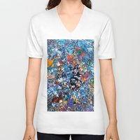 fruit V-neck T-shirts featuring Fruit by Stephen Linhart
