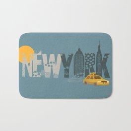 New York! New York! Bath Mat