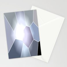 Gray Mosaic Stationery Cards