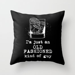 Old Fashioned Guy Throw Pillow