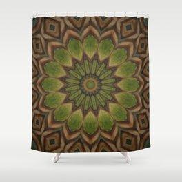 Greenwitch // Visionary Mandala Celtic Witchy Boho Bohemian Circle Nature Energy Healing Meditation Shower Curtain
