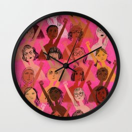 Rise up with fists! Wall Clock