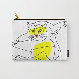 Acrobatic Cat Carry-All Pouch