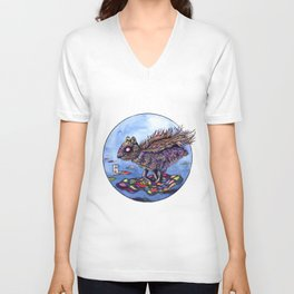 Chinese Mythic Creatures and Legends 【山海神兽·插画】   Unisex V-Neck
