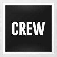 animal crew Art Prints featuring Crew by T/4:
