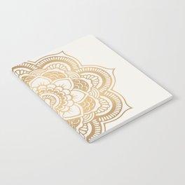 Mandala beige creamy pattern 2 Notebook