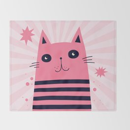 Dreaming Kitty Throw Blanket