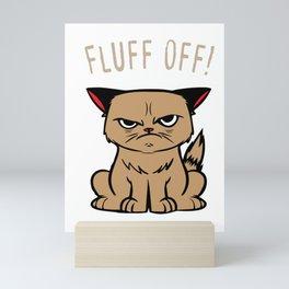 Sarcasm Cat Hasse human evil joke gifts Mini Art Print